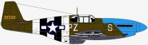 North American P-51B Mustang del 486th FS
